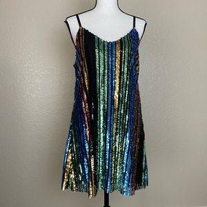 Show Me Your MuMu Vivian Sequin Slip Dress